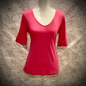 NWT - Ralph Lauren Hot Pink Top- Size Large